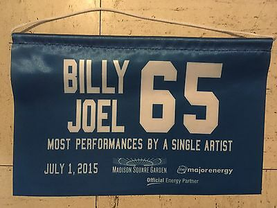 BILLY JOEL BANNER MSG SGA 65th RECORD BREAKING SHOW NYC 7/1/2015