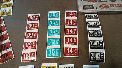 Original Alabama Vinyl License Plate STICKERS  ~ month and year