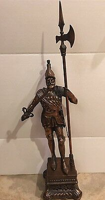 """Vintage Copper Bronze Statue Knight or Conquistador on Base 38"""" Tall"""