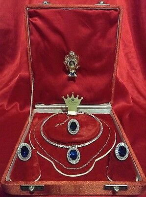 Beyond Luxury Sapphire And Diamond Jewelry Set Princess Di Memorabilia