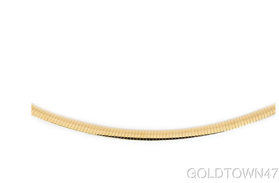 14kt White+Yellow Gold Reversible Omega Set (Necklace & bracelet) with Box Catch