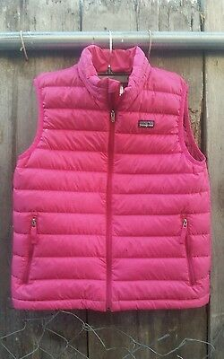 Patagonia Vest Down Father Insulated Puffer Winter Spring Ski Size L 12 Girls