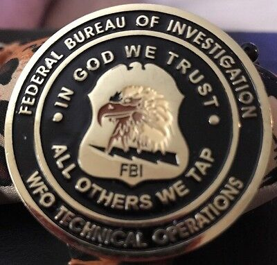 FBI WFO Technical Operations Police Challenge Coin. (CHP LAPD NYPD)
