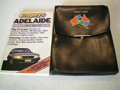 Gregorie's Old Adelaide Street Directory with Satchel and Maps.