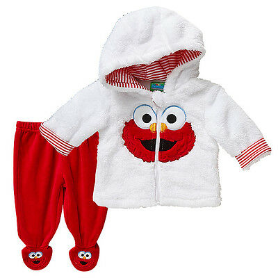NWT Sesame Street Elmo Boys Girls Jacket with Hood Pants Winter Set Size 0