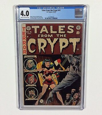 Tales From The Crypt #41 CGC 4.0 CLASSIC COVER (Jack Davis) Apr.1954 EC Pre-Code