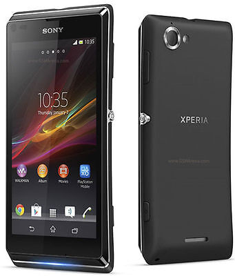 Original Sony XPERIA L C2105 8GB Black (Unlocked) Android Smartphone,8MP,GSM