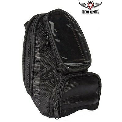 Motorcycle Magnetic Tank bag with Gun Pocket and Full Clear Window