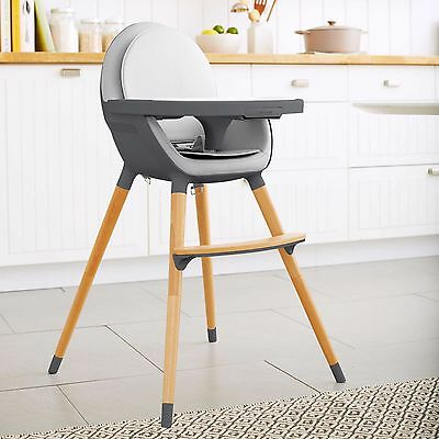 Skip Hop Tuo Convertible High Chair in Charcoal Gray