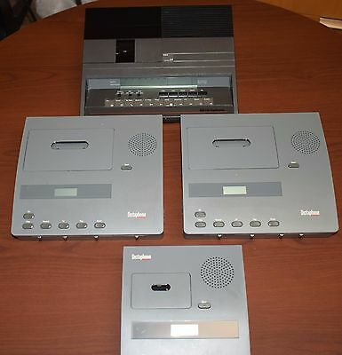 Bundle of four DICTAPHONE, Used, tested and working. Include accessories.
