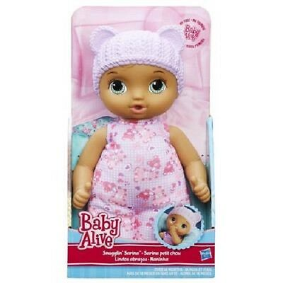 Brand New Hasbro Baby Alive Snugglin Sarina Dark Skinned B5429 Doll
