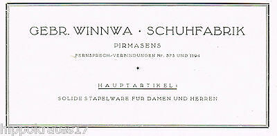 Gebrüder Winnwa Pirmasens Schuhfabrik 1927 Reklame (39) advertising