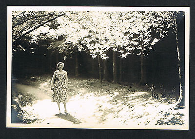 FOTO vintage PHOTO, Frau Dame Wald woman lady forest femme foret /106b