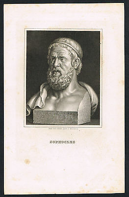 Stahlstich, Sophocles, steel engraving (113)