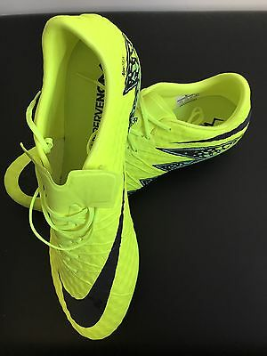 Nike Yellow Hypervenom Phinish Ii Men's Firm-ground Soccer Cleat Size 12.5 US