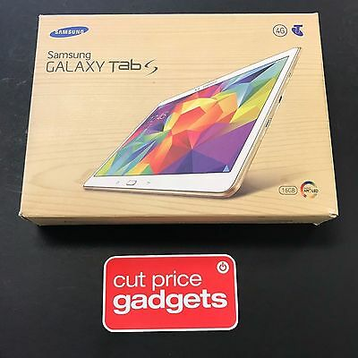 "Samsung Galaxy Tab S 10.5"" SM-T805Y 16GB WiFi + 4G White (Unlocked) * AU MODEL *"