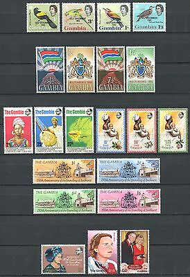 GAMBIA 1963-2006 Lot of Mint Stamps MNH