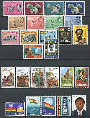 GHANA 1957-1996 Lot of Mint Stamps mostly MNH