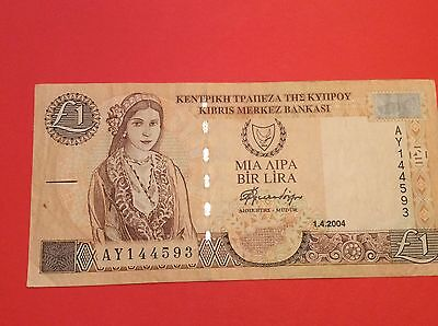 Central Bank of Cyprus,£1  UNC