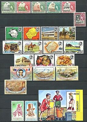 LESOTHO Lot of Mint Stamps & S/S MNH CV 11.40