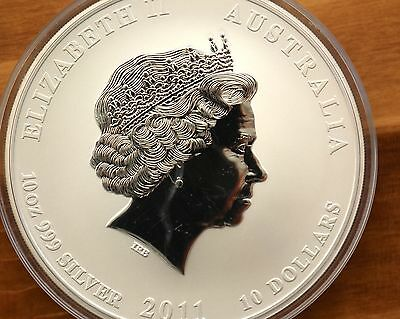 10oz Lunar 2  Hase , Year of the Rabbit  2011 , 10$ , sehr selten