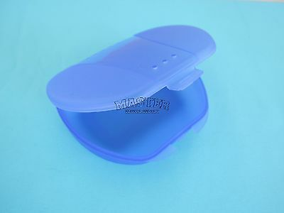 1 Orthodontic Appliance Retainer Case BLUE Plastic Box with Breathing Holes