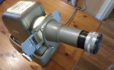 Vintage Working 1950's Aldis Metal Projector With Box Case