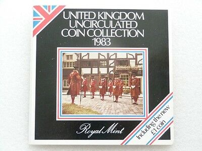 1983 UK Brilliant Uncirculated Coin Collection Set - 1st Issue £1 - Royal Mint