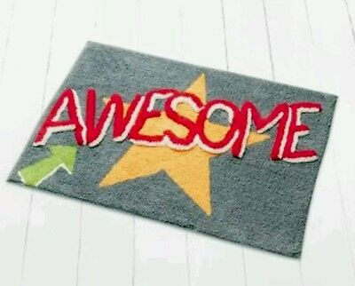 Teens/kids Boys Super cool Awesome Graffiti rug Mat .slogan print Teenager