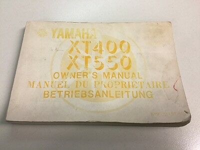 YAMAHA XT400 XT550 manuale uso manutenzione owner's manual betriebsanleitung
