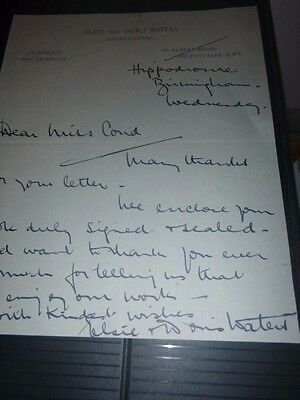 Very Rare Hand Signed Letter by 1930/40,s Entertainers Elsie & Doris Wlaters