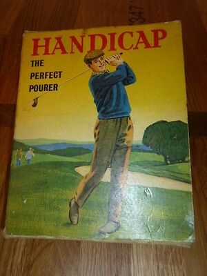 """Vintage Novelty Golf Straw in Original Box """" the perfect pourer """""""