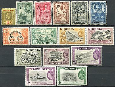 NIGERIA 1914 – 1950s Small Lot of Mint Stamps mostly MH CV 9.60