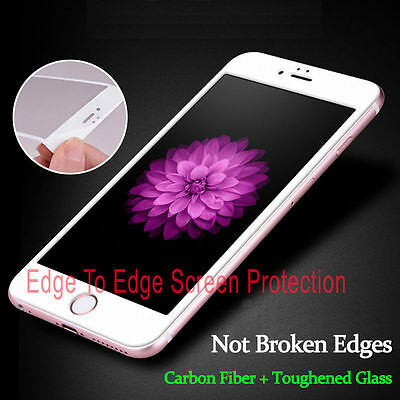 White Full Cover Tempered 3D Curved Screen Protector For iPhone 6 {me37