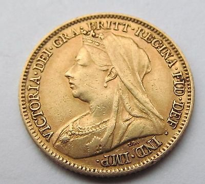 1901 1/2 gold  sovereign