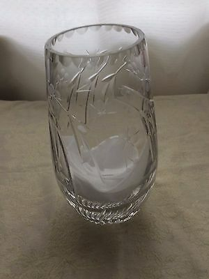 Bohemia Crystal Vase Hand Cut Etched