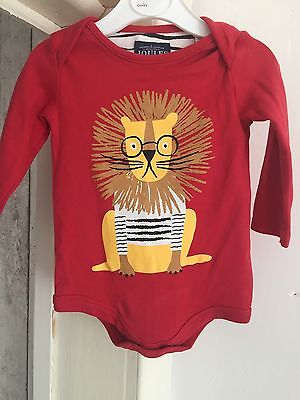 Joules Lion Long Sleeve Bodysuit Tee 3-6 Months