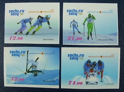 KIRGISIEN KYRGYZSTAN 2014 Olympiade Olympics Sotchi Wintersport Ungezähnt ** MNH