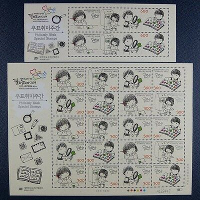 Korea Süd 2013 Woche der Philatelie Post Kinder Comics 2943-46 Block 753 MNH