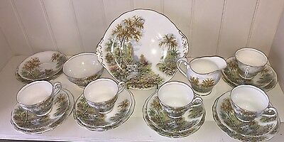 Royal Standard The Old Mill Stream 20 Pc Tea Set. Vintage, Rare Pattern Ex Con