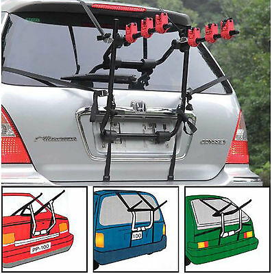 3 Bicycle Bike Car Cycle Rear Mount Carrier Rack Saloon Hatchback Estate Univers