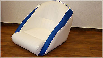 Boat Seat boat seat boat Steering chair seat Blue/White