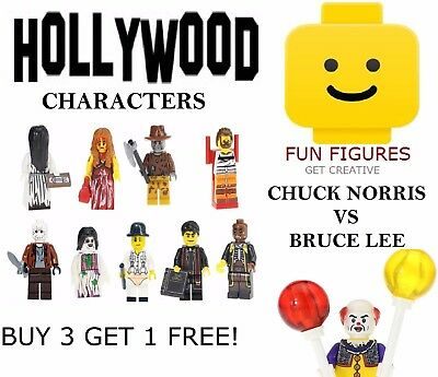 Horror Movie Minifigures Famous People Movie Characters Villains Fits Lego