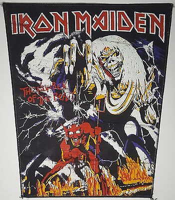 "Iron Maiden ""The Number of the Beast"" Vintage 1982 Back Patch Aufnäher NWOBHM"