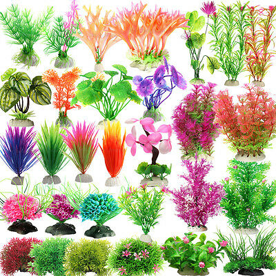 Aquarium Fish Tank Decoration Artifical Plastic Plant Grass Underwater Ornaments
