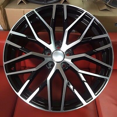 """20"""" R8 Black/polish Style Alloy Wheels To Fit Audi A5 A7"""