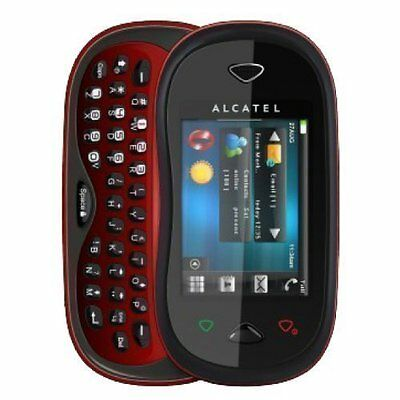 Kids Toy Dummy Cell Phone Red Alcatel OT880 Nonworking Fake Display - New