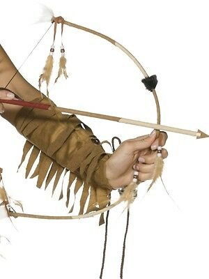 Feathered Indian Bow and Arrow Set Fancy Dress Accessory Cowboys Wild West Toy