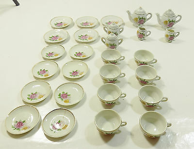 27 Pce Rare Made In Japan Miniature Childs Teaset Service Porcelain 1950's Cup