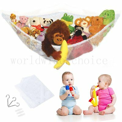 1/2/3 PCS  Large Toy Soft Teddy Hammock Mesh Tidy Storage Nursery Net 1.4mx1mx1m